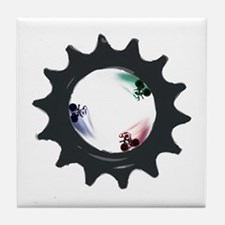 fixed gear cycling Tile Coaster