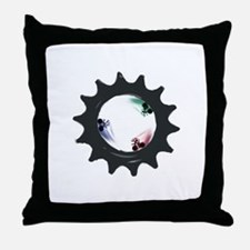 fixed gear cycling Throw Pillow
