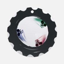 fixed gear cycling Ornament (Round)