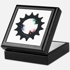 fixed gear cycling Keepsake Box