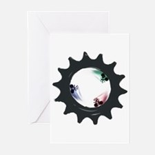fixed gear cycling Greeting Cards (Pk of 10)