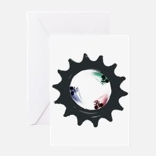 fixed gear cycling Greeting Card