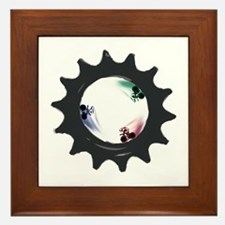 fixed gear cycling Framed Tile