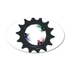 fixed gear cycling 22x14 Oval Wall Peel