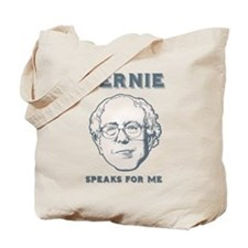 Bernie Speaks For Me Tote Bag