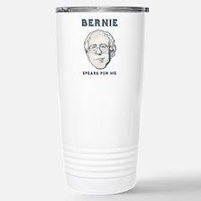 Bernie Speaks For Me Travel Mug