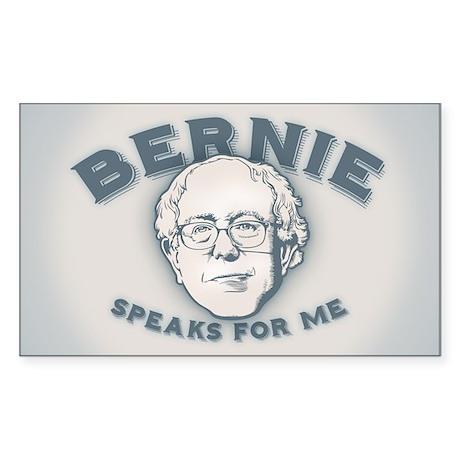 Bernie Speaks For Me Sticker (Rectangle)