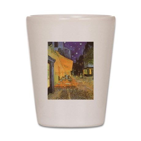 Van Gogh Cafe Terrace at Night Shot Glass