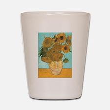 Van Gogh Vase with Sunflowers Shot Glass