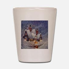 Vintage Christmas North Pole Shot Glass