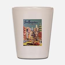 Vintage Travel Poster San Francisco Shot Glass