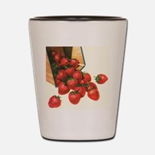 Vintage Food, Strawberries Shot Glass