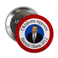 Oklahoma supports Obama 2012 button