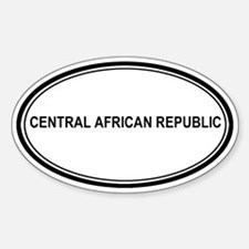 Central African Republic Euro Oval Decal