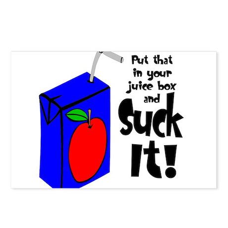 Juice Box Suck It Postcards (Package of 8)