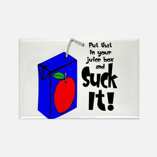 Juice Box Suck It Rectangle Magnet