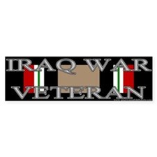 Iraq Veteran Ribbon Bumper Bumper Sticker