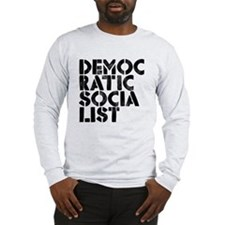 Democratic Socialist Stencil Long Sleeve T-Shirt