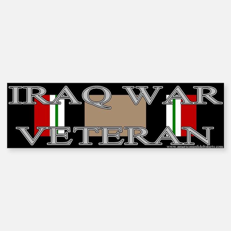 Iraq Veteran Ribbon Bumper Bumper Bumper Sticker