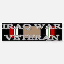 Iraq Veteran Ribbon Bumper Car Car Sticker
