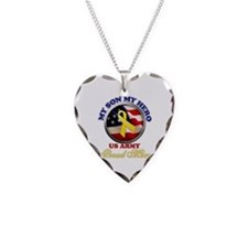 Proud Mom Necklace Heart Charm