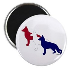 Patriotic German Shepherds Magnet