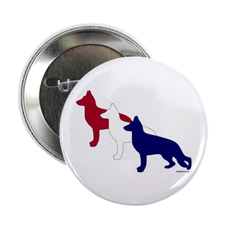 "Patriotic German Shepherds 2.25"" Button"