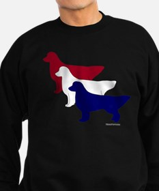 Patriotic Golden Retrievers Sweatshirt (dark)