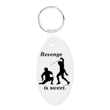 Revenge Aluminum Oval Keychain