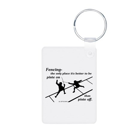 Piste On Aluminum Photo Keychain