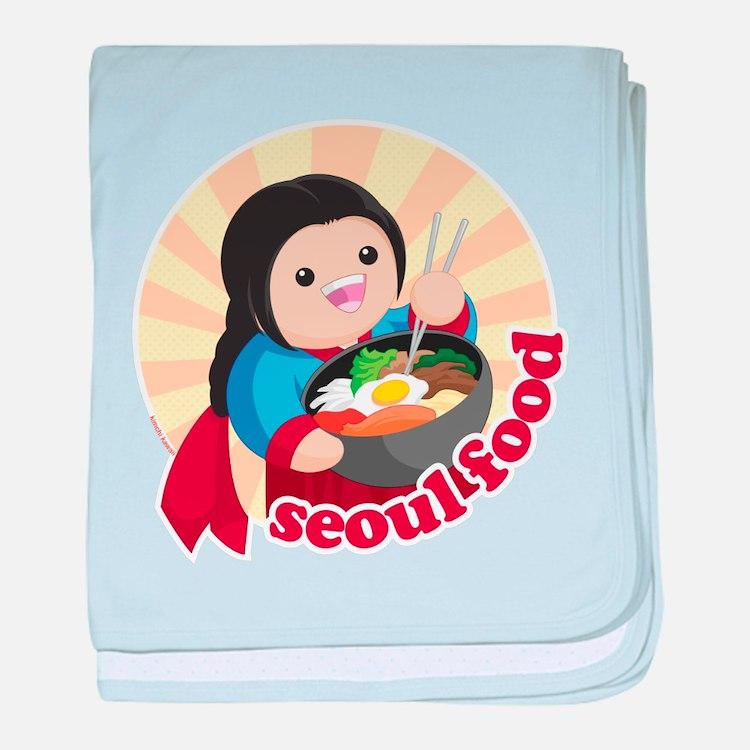 Seoul Food baby blanket