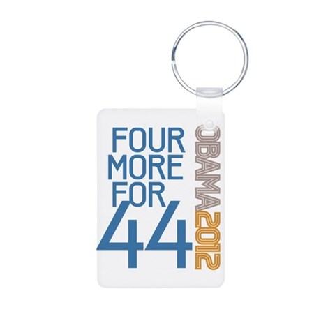 Four More for 44 Aluminum Photo Keychain