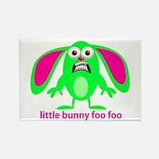 Little Bunny Foo Foo Rectangle Magnet