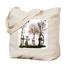 Trumpets as Trees Tote Bag