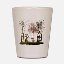 Trumpets as Trees Shot Glass