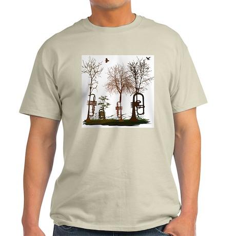 Trumpets as Trees Light T-Shirt