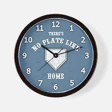 No Plate Like Home II Wall Clock