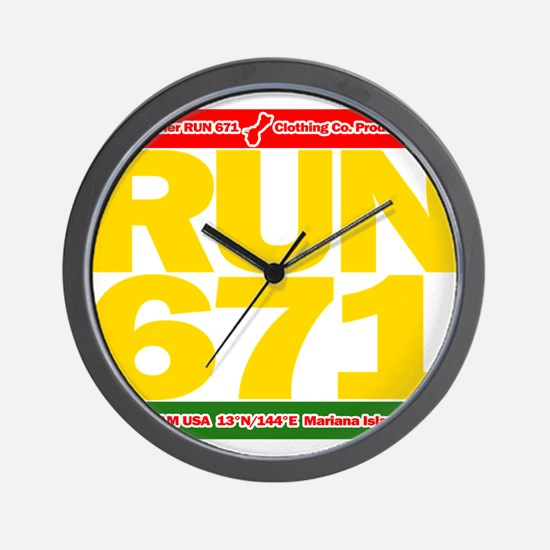 RUN 671 GUAM REGGEA Island Kings tee Wall Clock