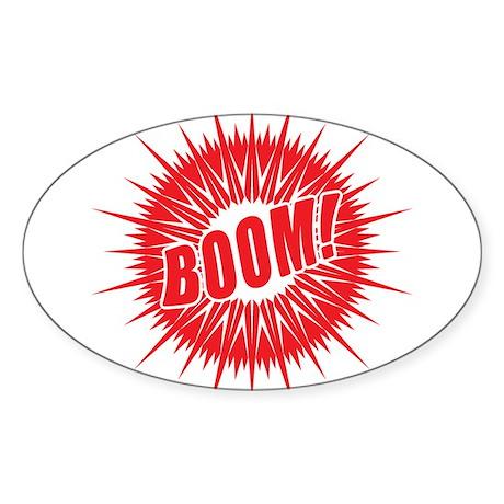 Red Boom Sticker (Oval 50 pk)