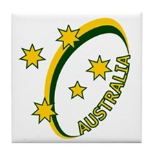 Aussie rugby cross 1 Tile Coaster