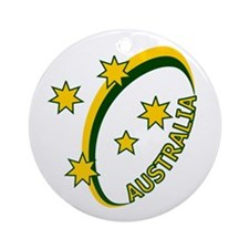 Aussie rugby cross 1 Ornament (Round)