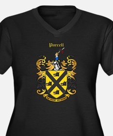 Purcell Coat of Arms Women's Plus Size V-Neck Dark