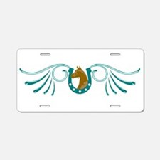 Lucky Horse Aluminum License Plate