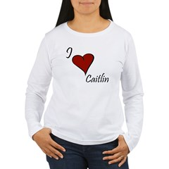I love Caitlin Women's Long Sleeve T-Shirt