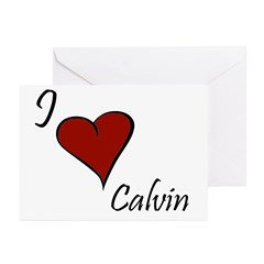 I love Calvin Greeting Cards (Pk of 20)