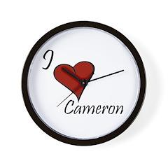 I love Cameron Wall Clock