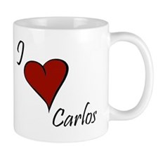I love Carlos Small Mug