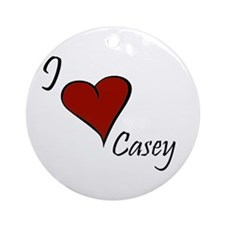 I love Casey Ornament (Round)