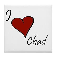 I love Chad Tile Coaster