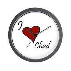 I love Chad Wall Clock